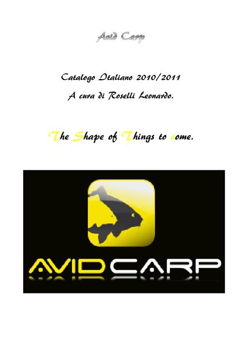 Catalogo Avid Carp Italiano 2010/2011