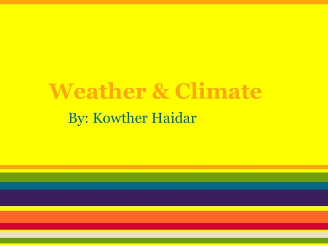 Weather and Climate asignment