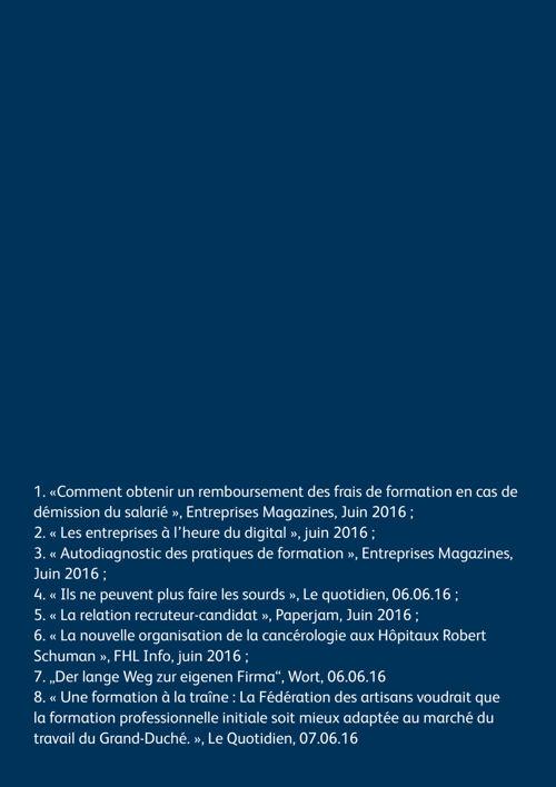 La revue de presse de l'IUIL - n°9 juin 2016