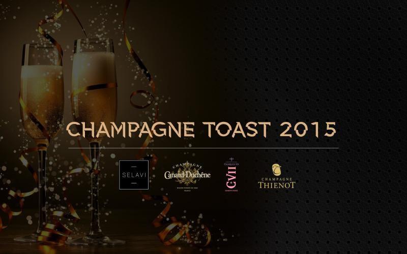 Champagne toast 2015