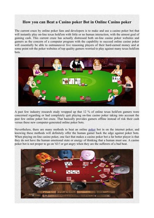 How you can Beat a Casino poker Bot in Online Casino poker
