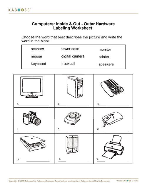 Hardware worksheets