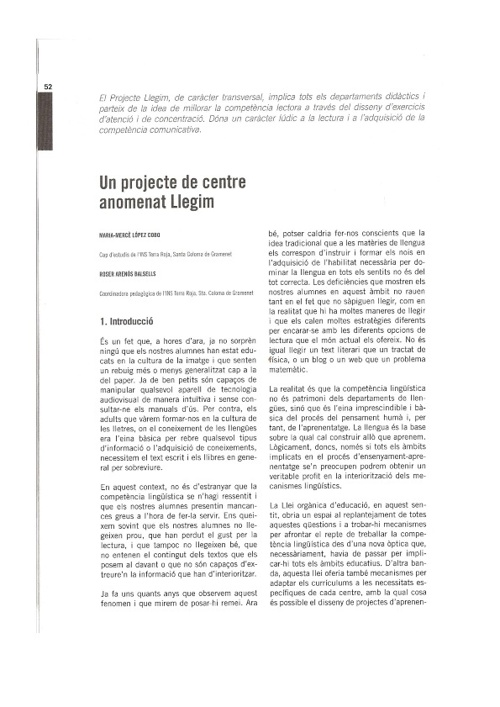 """Projecte """"Llegim"""""""