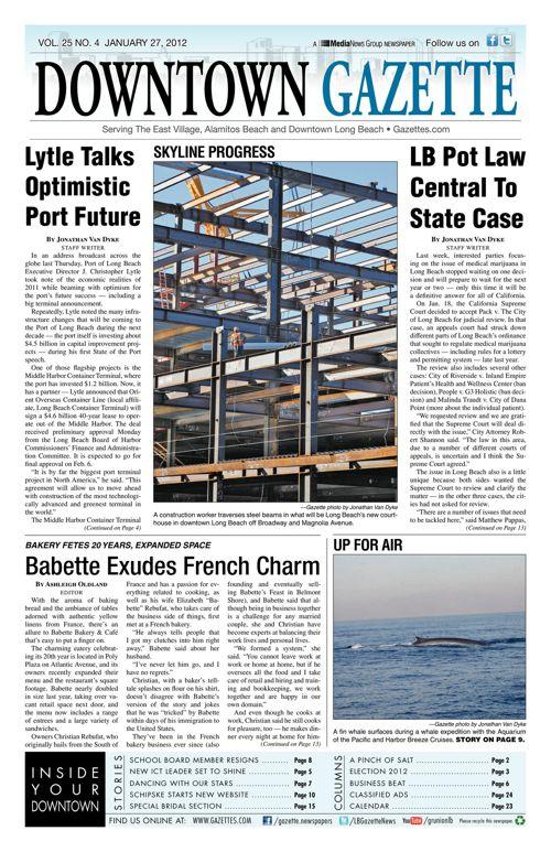 Downtown Gazette  |  January 27, 2012