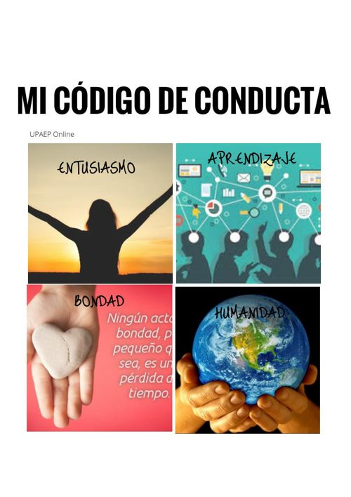 MI CODIGO DE CONDUCTA