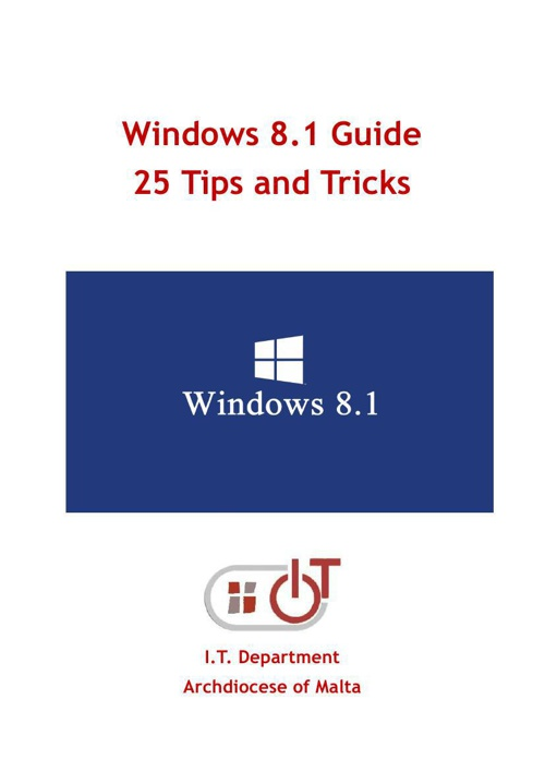 Windows 8.1 Guide