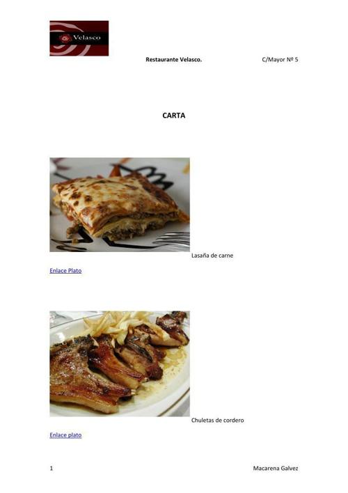 plantilla menu enviar