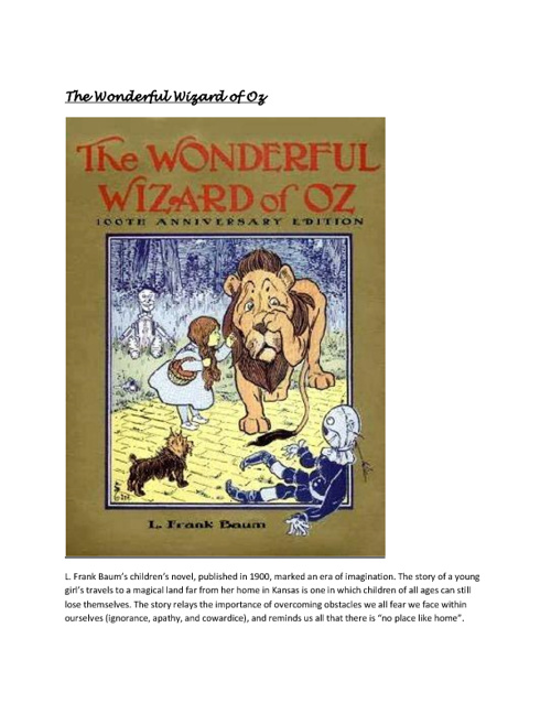Remediation Project - The Wonderful Wizard of Oz