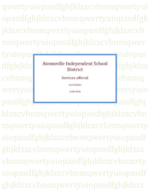 Atomsville Independent School District