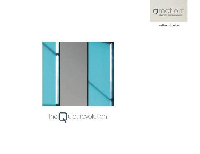 Qmotion Roller Shades - porduct brochure