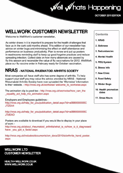 WellWork November Newsletter
