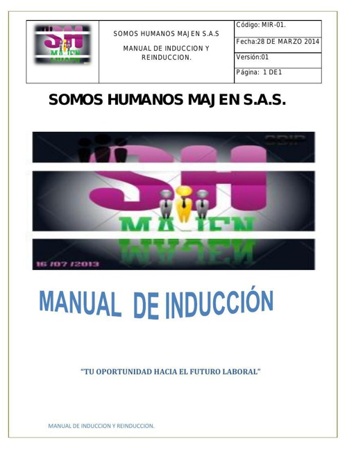 MANUAL INTERNO DE LA ORGANIZACION