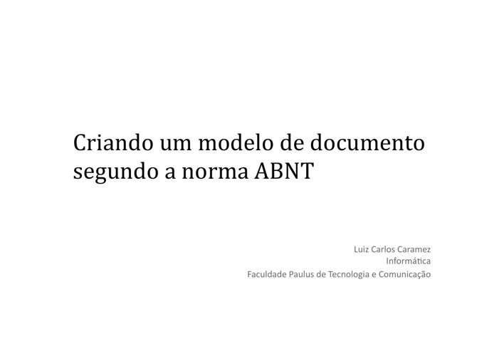 ABNT-Word