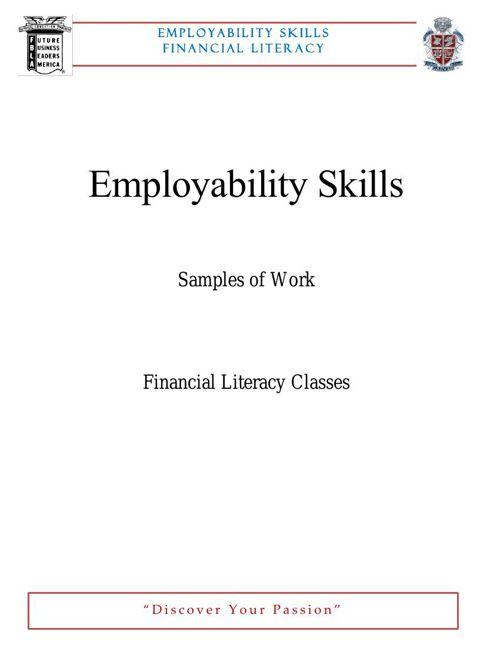 Employ Skills FINANCE MAR
