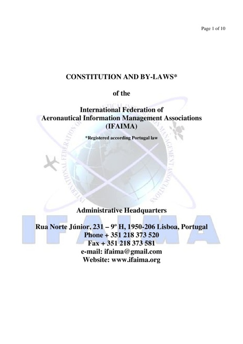 IFAIMA By-Laws