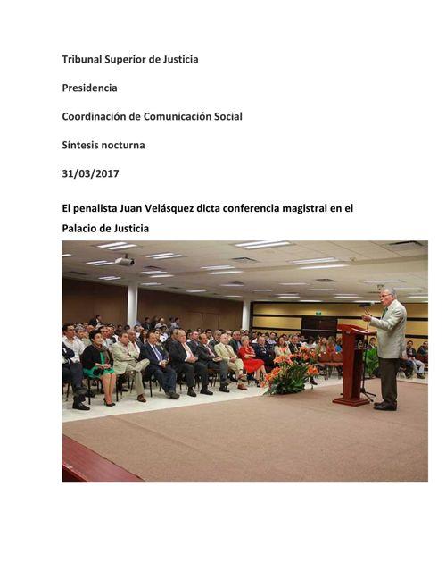 TSJ Veracruz CCS Síntesis nocturna del 31 de marzo 2017