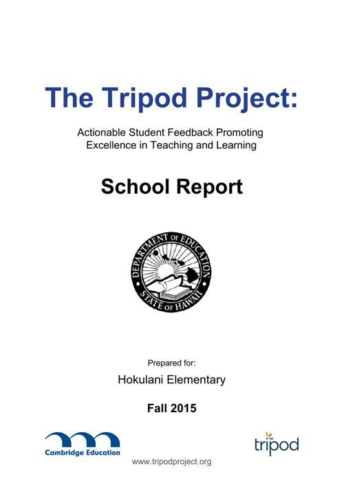Tripod Survey Fall 2015