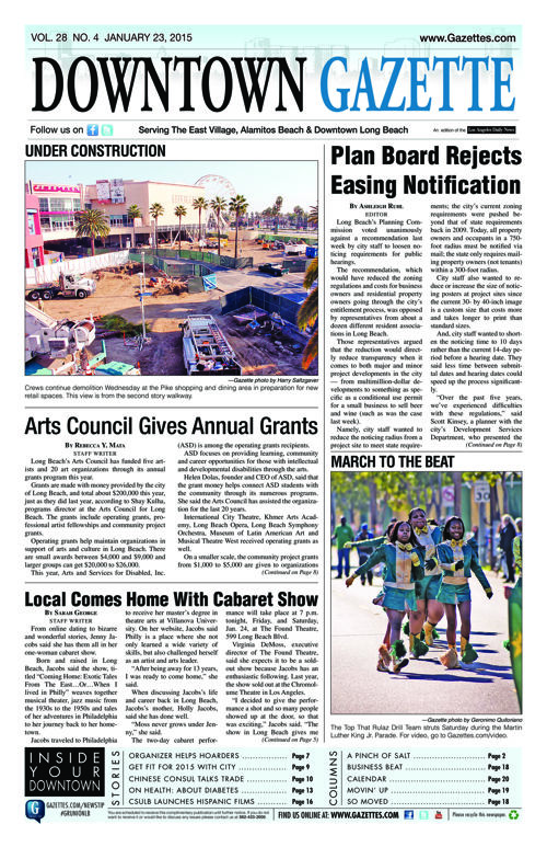 Downtown Gazette  |  January 23, 2015
