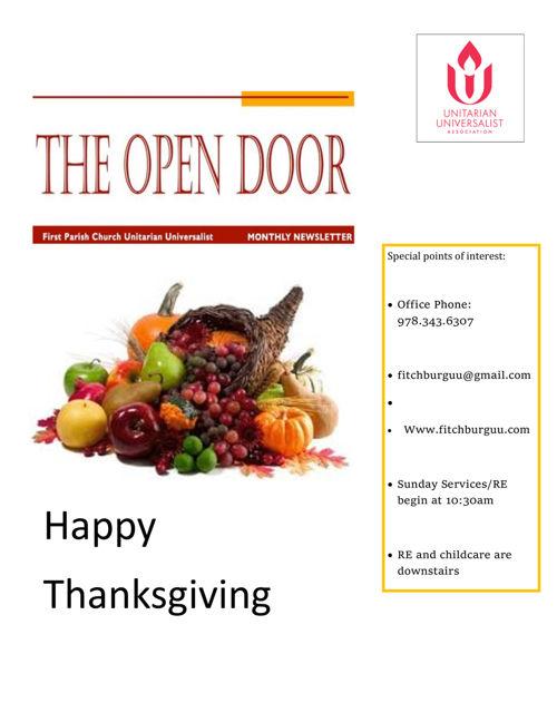 November 2016 Open Door