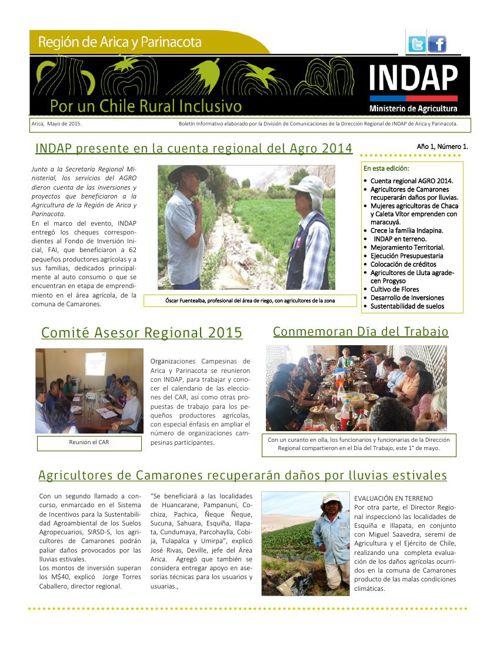 INDAP Mayo 2015