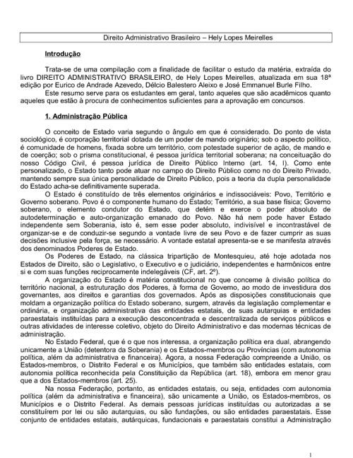 Direito administrativo - resumo