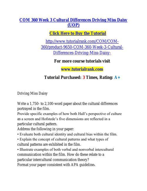 COM 360 learning consultant / tutorialrank.com