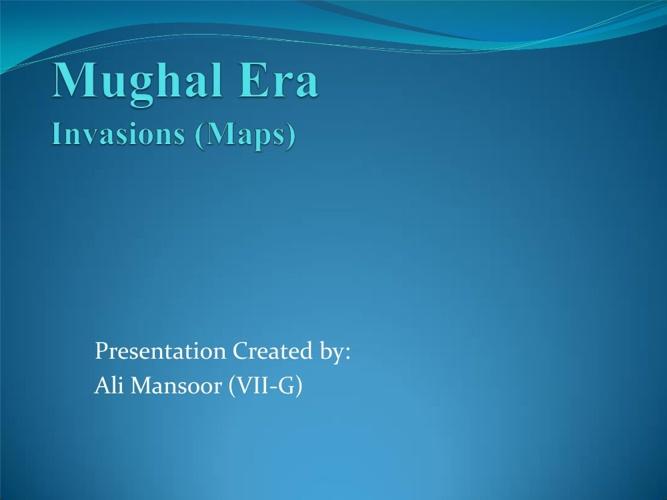 Mughal Era Ali Mansoor