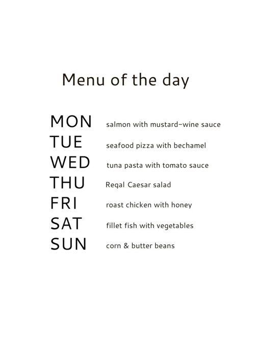 My flip menu
