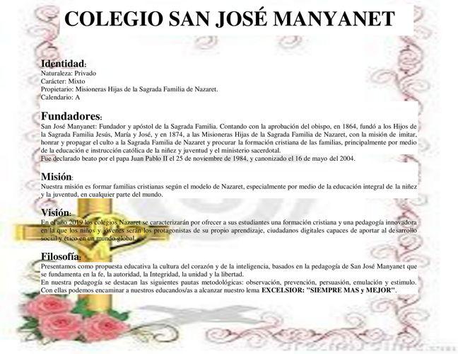 COLEGIO SAN JOSÉ MANYANET