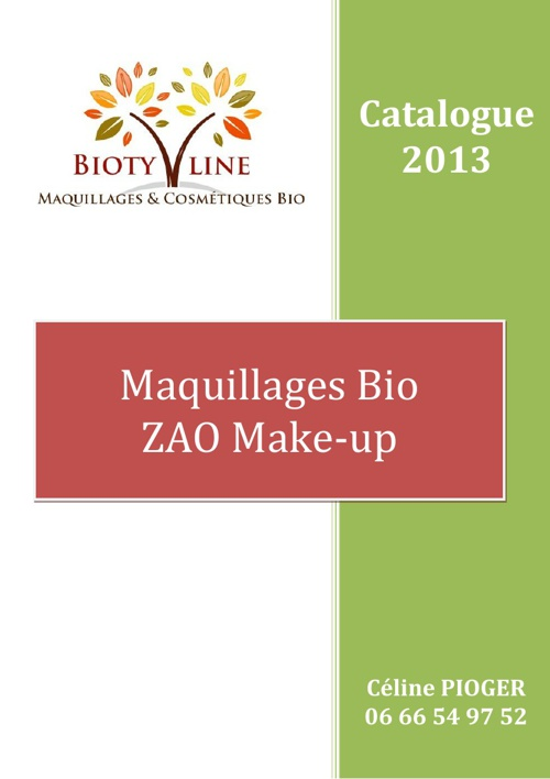 Catalogues Bioty'line
