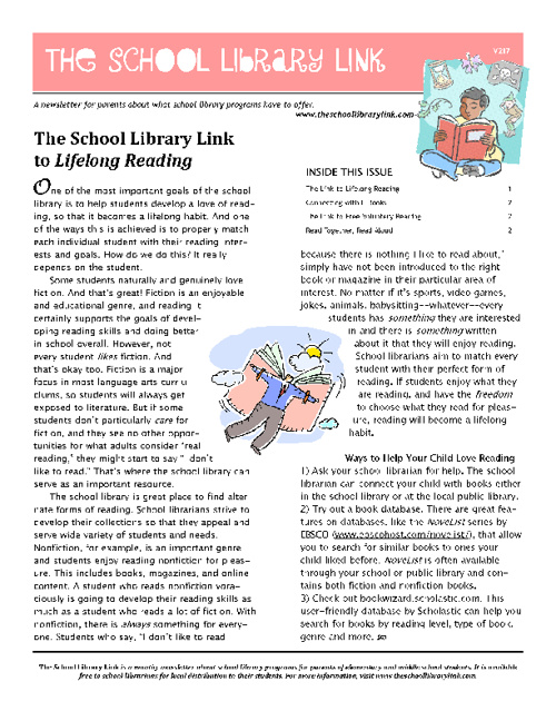 School Library Link newsletters