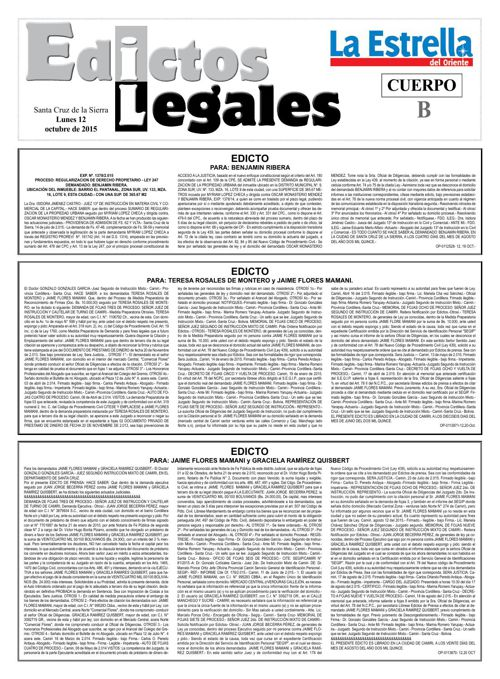 Judiciales 12 lunes - octubre 2015