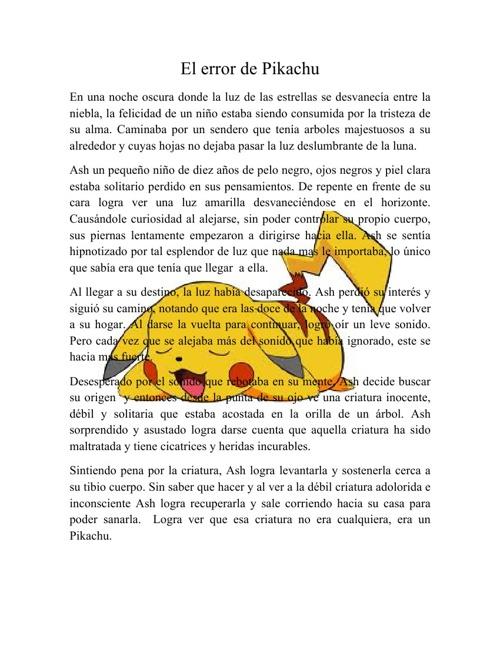 El error de Pikachu