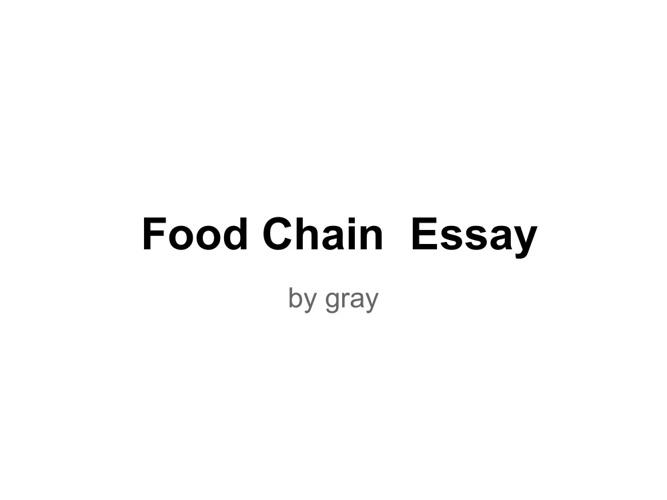 Food Chain eassy