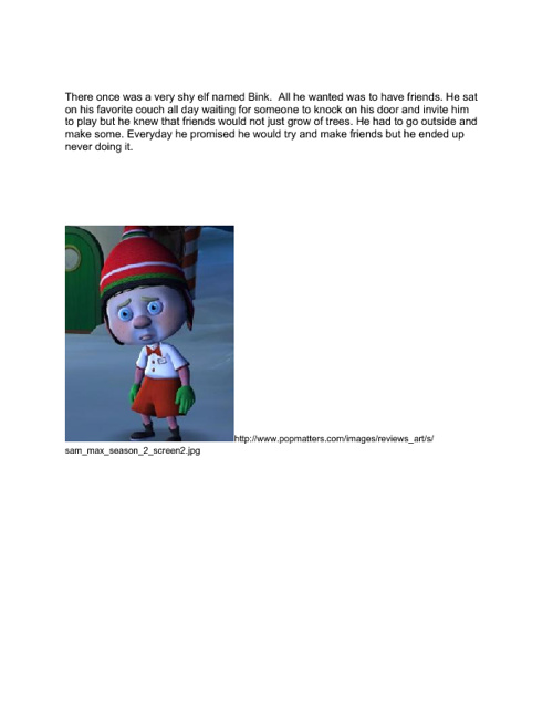 Children's Story= Bink the Shy Elf