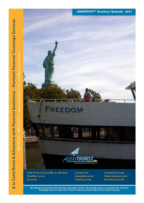 Assistourist Brochure Generale - 2013