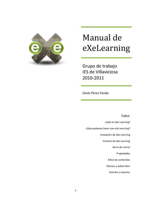 Manual de eXeLearning