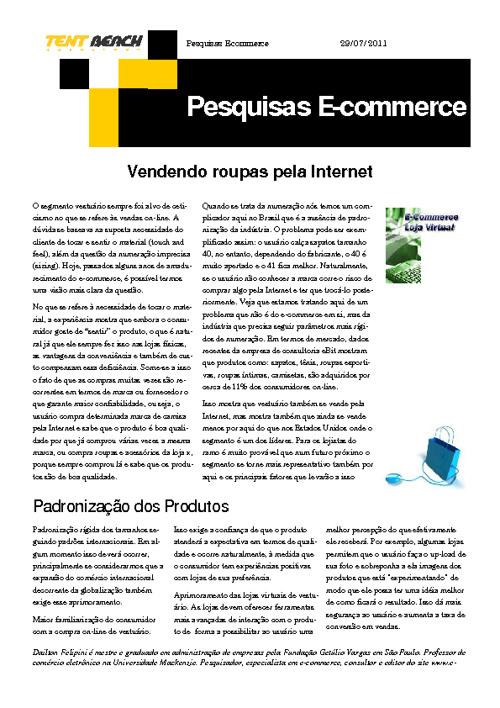 Pesquisas e-commerce