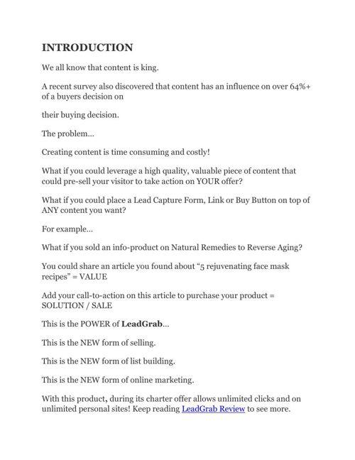 LeadGrab Review and Bonus LeadGrab by Mark Thompson