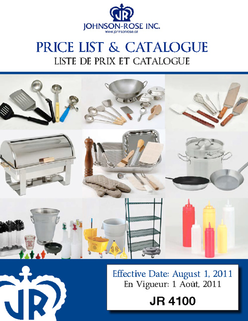 JR 4100 Price List and Catalogue (2011)