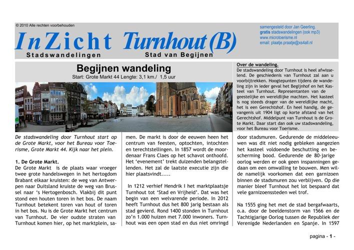 Stadswandeling Turnhout (B)