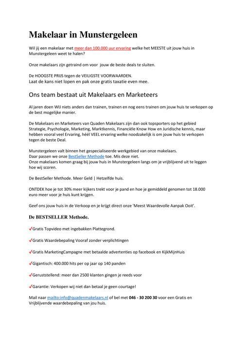 Makelaars in Munstergeleen