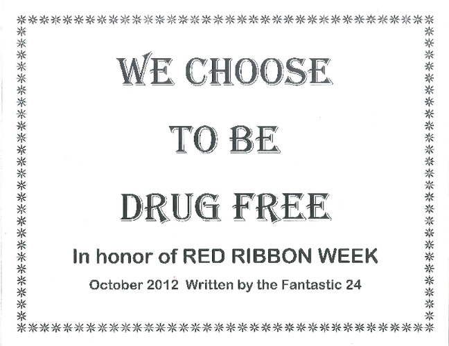 Mrs. Kircher Red Ribbon Week 2012