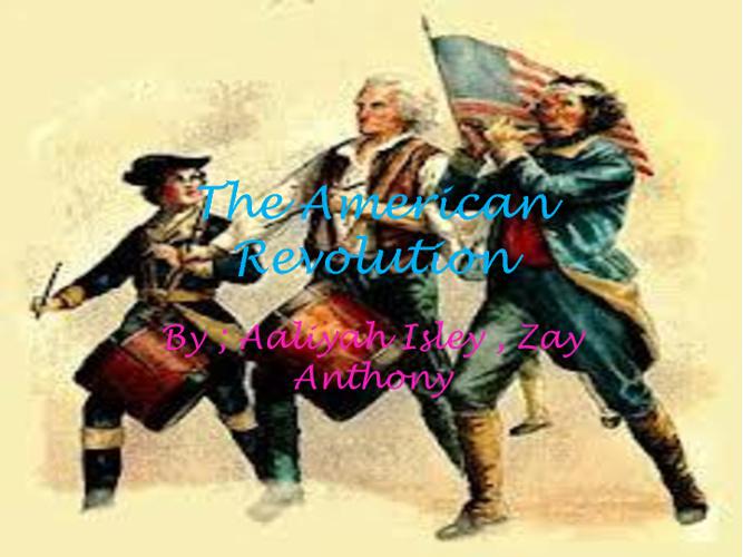 american revolution 3rd anthony, isley