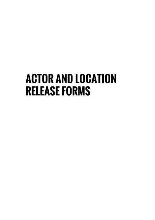 Actor and location release form