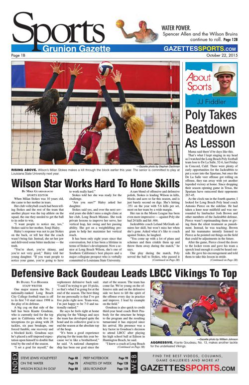 Gazette Sports | October 22, 2015