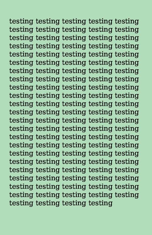 PRINTS testing