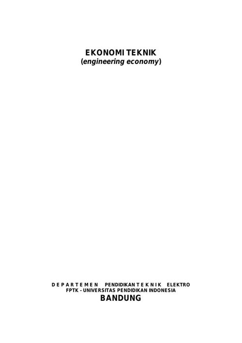 Diktat Ekonomi Teknik 2015