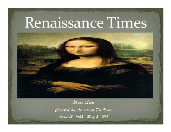 Renaissance flipbook