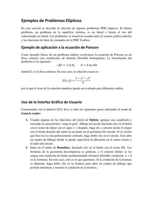 Ecuaciones diferenciales parciales con matlab
